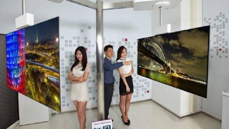 LG presenta un TV OLED 4K de 111 pulgadas y doble cara