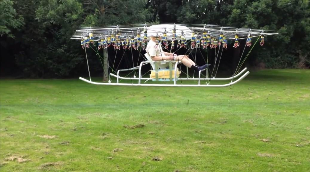 Cómo volar en su propio avión casero de 54 hélices