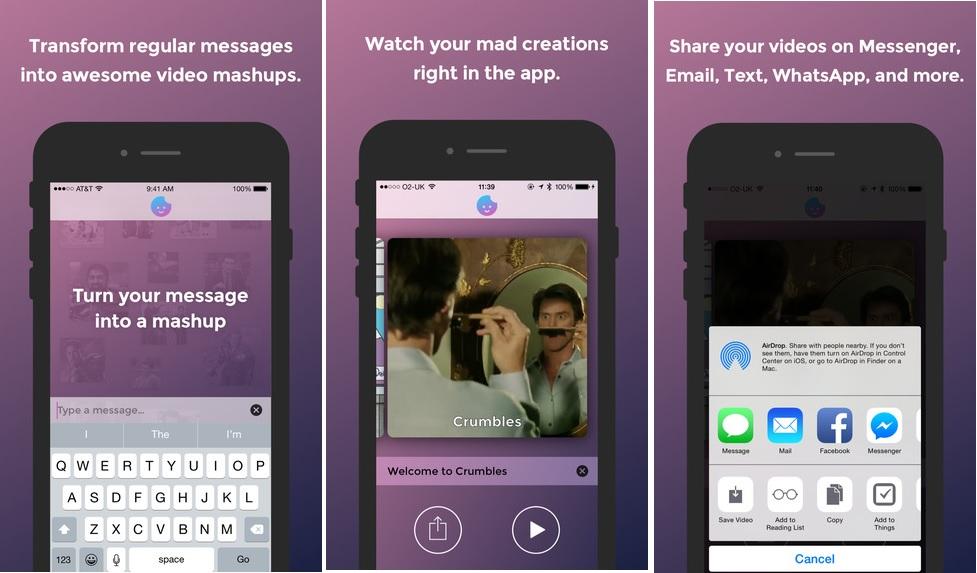 Convierta sus mensajes de texto en una combinación de videos, gratis para iPhone y iPad