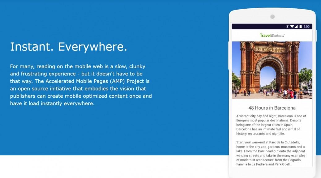 Google hará la web móvil más rápida con Accelerated Mobile Pages