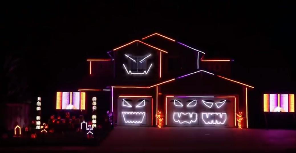 Casa decorada para Halloween al ritmo de Ghostbusters