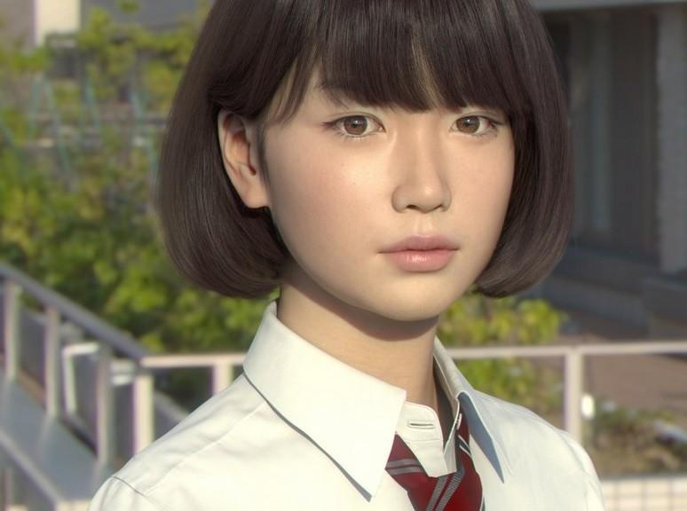 Conozca a Saya la niña japonesa generada por computador