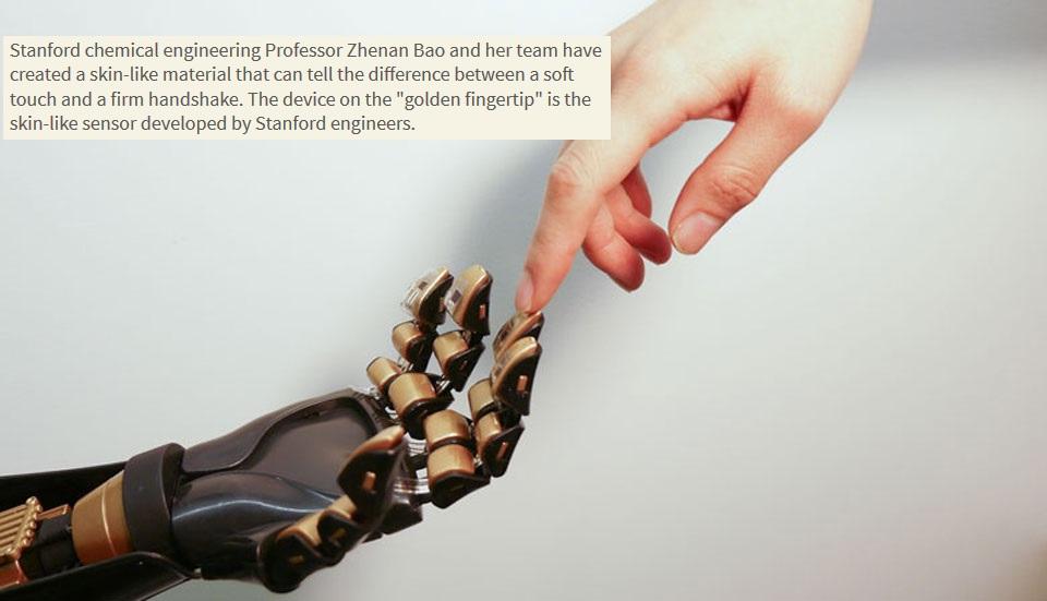 Investigadores crean piel artificial con sentido de tacto incorporado