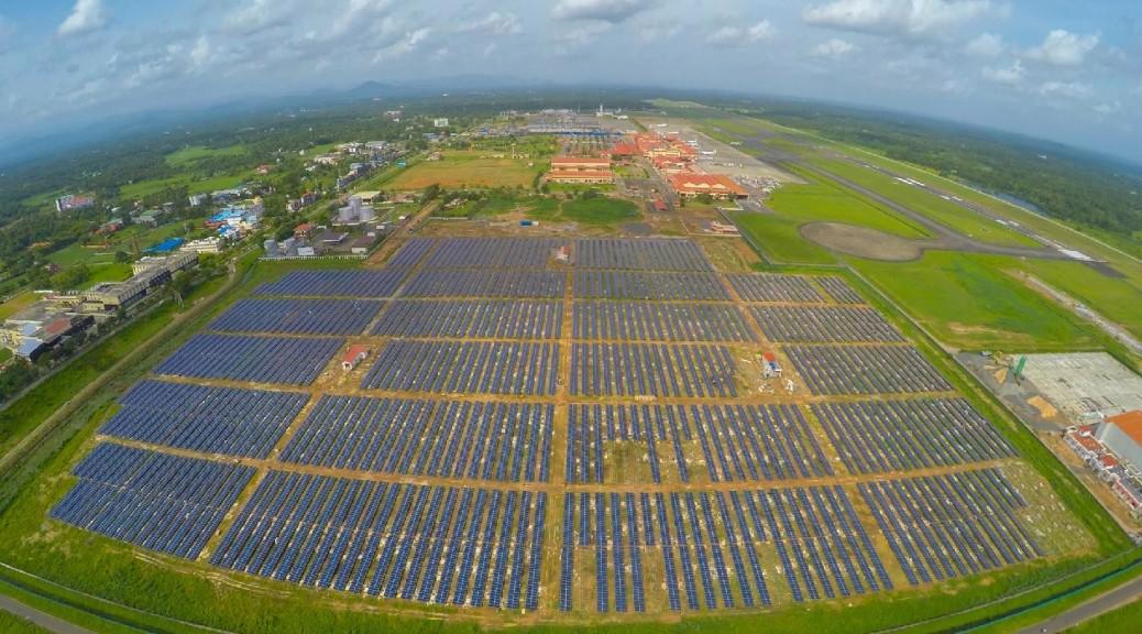 El primer aeropuerto que funciona al 100% con energía solar se encuentra en India