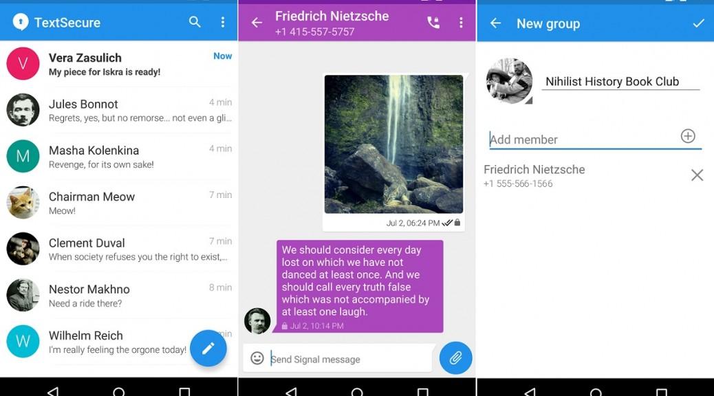 Servicio de mensajería y llamadas seguro y cifrado, gratis para Android