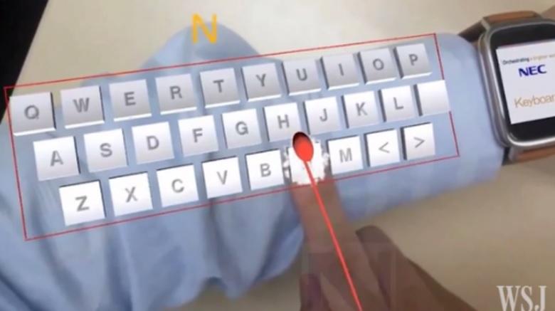 Su antebrazo pronto se convertirá en un teclado de realidad aumentada