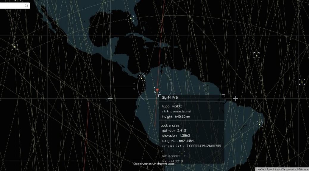 Encuentre su casa en este mapa y vea cuáles satélites pasan sobre ella