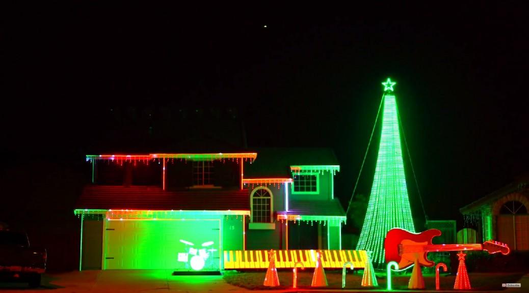 Video 4K con 70 mil luces de Navidad y la música de la Guerra de las Galaxias