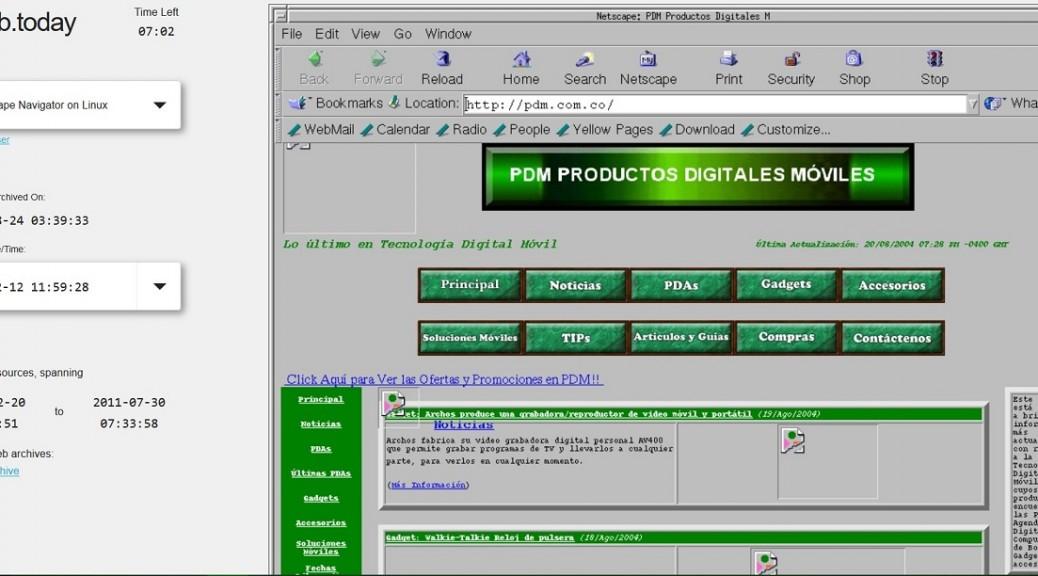 Sitio web le permite ver sitios actuales con navegadores antiguos