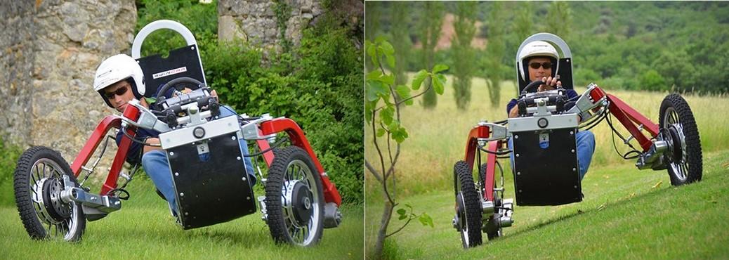 Carro eléctrico para atravesar cualquier obstáculo