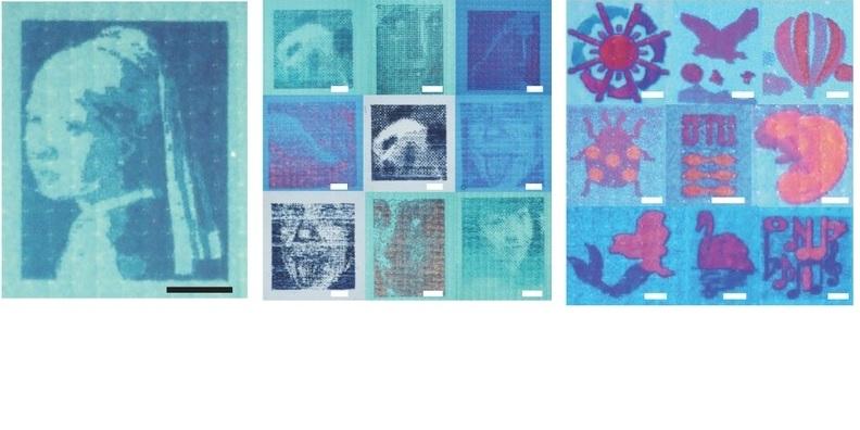 Imágenes diminutas a color de solo millonésimas de metro de ancho