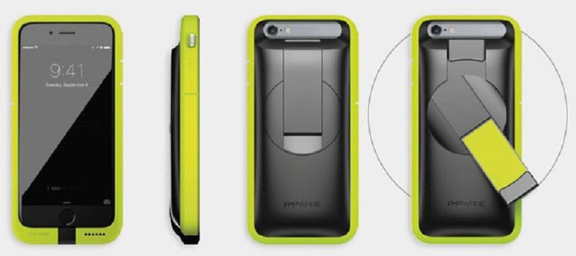 Un estuche que recarga su iPhone usando únicamente una manivela