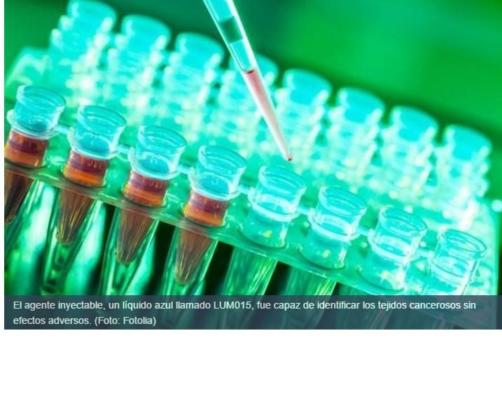 Líquido inyectable vuelve a las células cancerosas fluorescentes para facilitar su extracción
