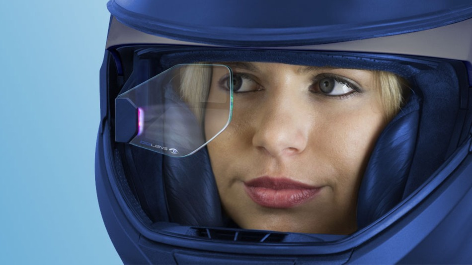 Casco para motociclistas les brinda realidad aumentada