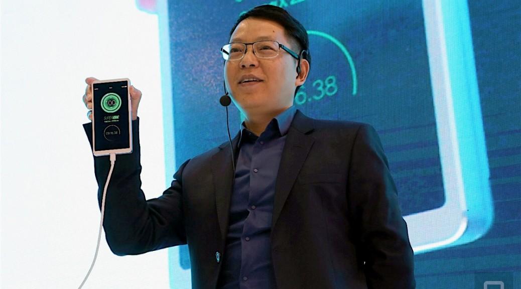 Oppo presenta su tecnología que permite recargar un teléfono completamente en 15 minutos