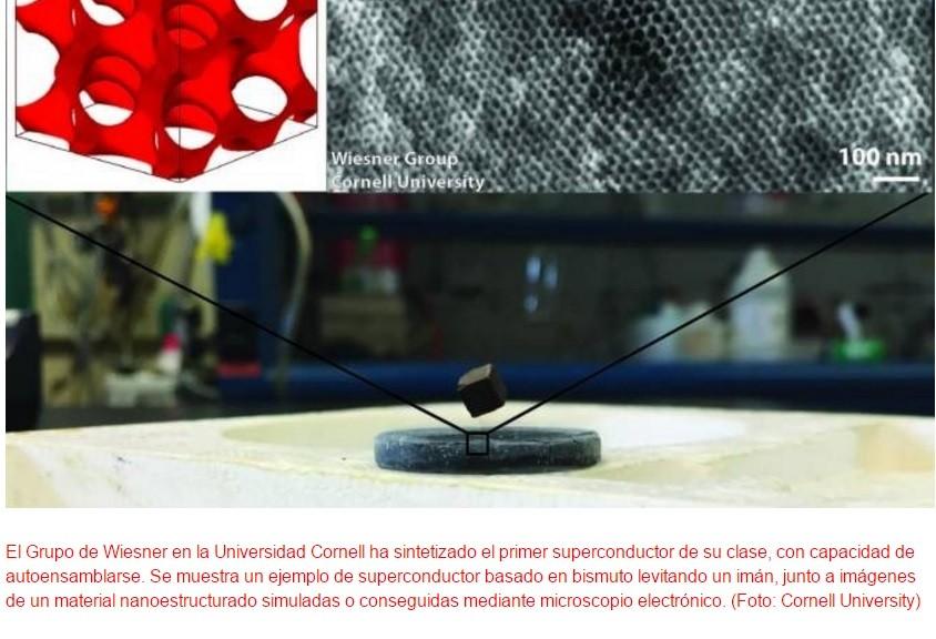 Primer superconductor autoensamblado