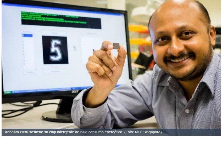 Chip para implantes neurales energizados inalámbricamente