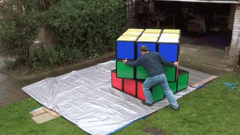 El cubo de Rubik más grande del mundo puede ser mucho más agotador para resolver