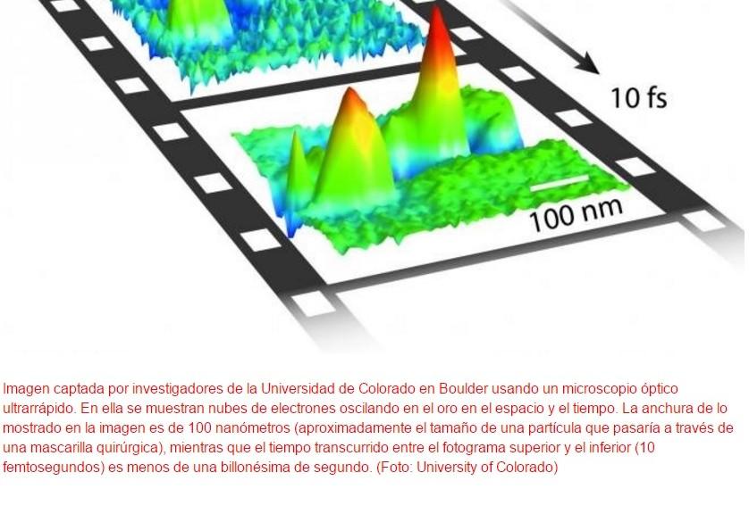 Microscopio graba movimiento de electrones y permite verlo en cámara lenta