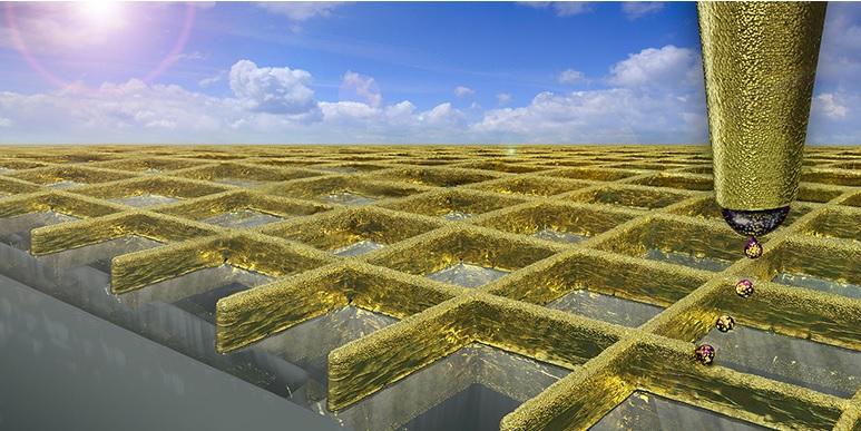 Paredes microscópicas de oro harán a las pantallas táctiles más sensibles