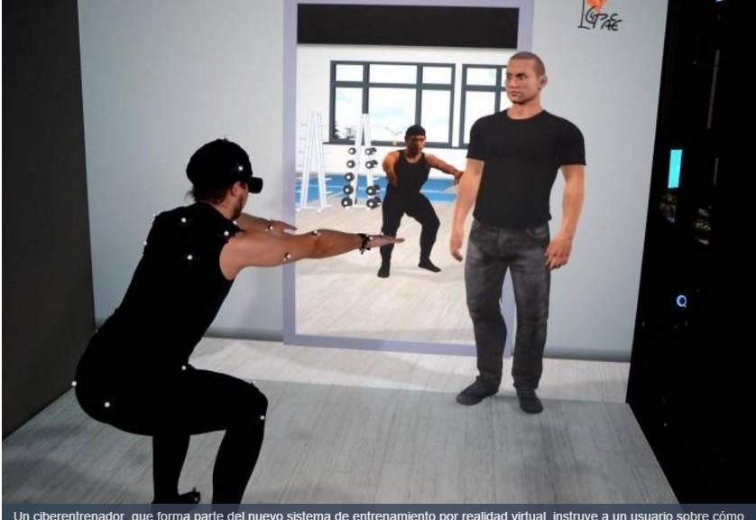 Realidad virtual para aprender a hacer ejercicios físicos especializados