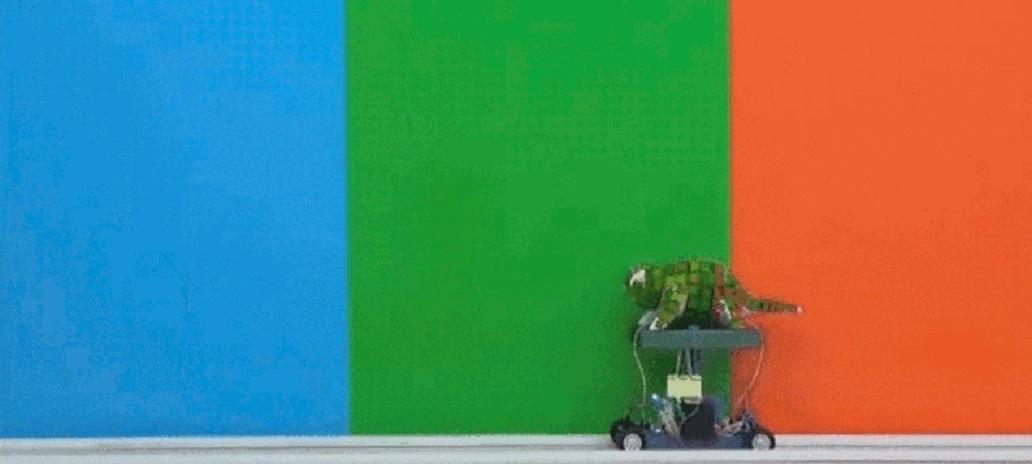Robot cambia de color como un camaleón