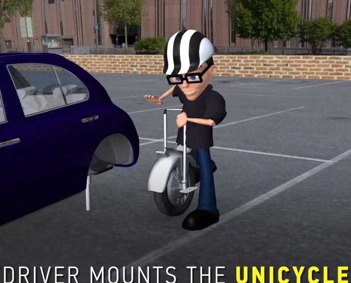 Ford quiere incorporar un uniciclo a su automóvil