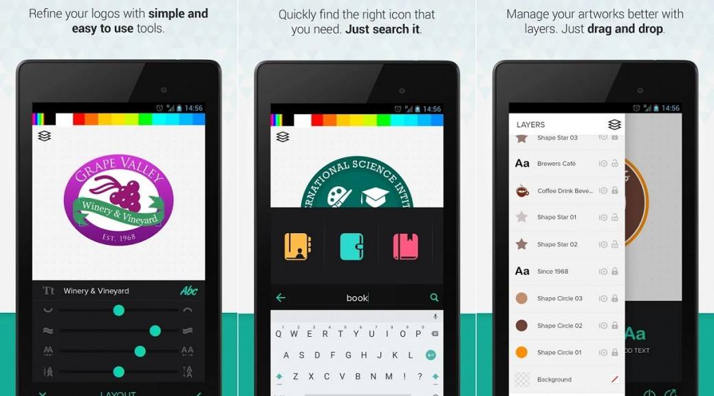 Cree sus propios logos, gratis para iPhone, iPad, Android
