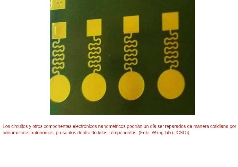 Electrónica capaz de autorrepararse mediante nanomotores internos
