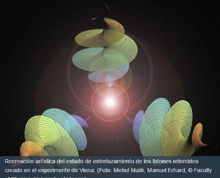 """Logran nueva forma de entrelazamiento cuántico con 3 fotones """"retorcidos"""""""