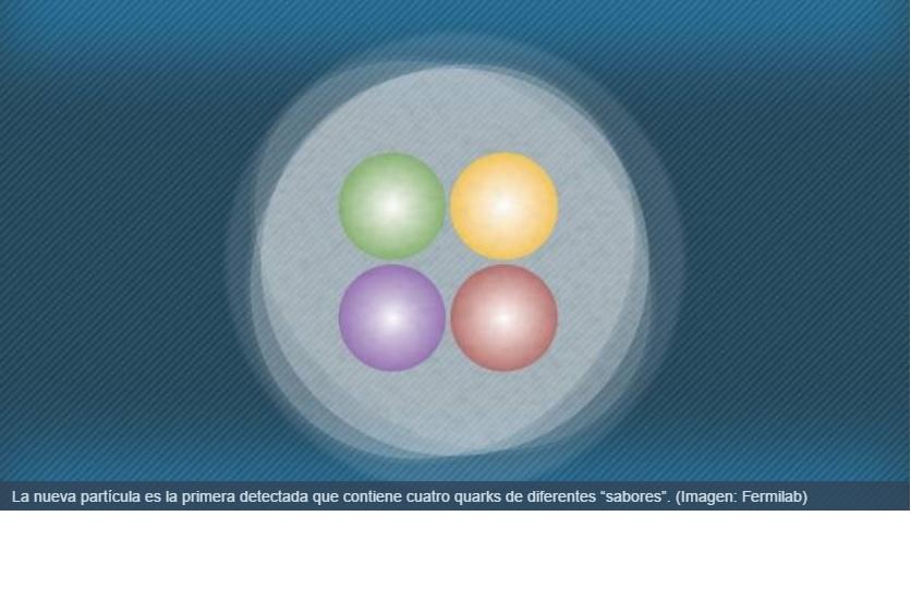 Detectan nueva partícula subatómica con 4 quarks