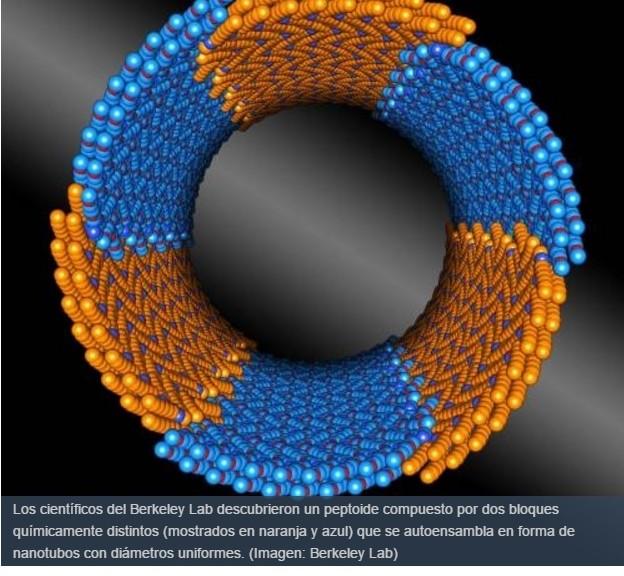 Nanotubos inspirados en la naturaleza y capaces de autoensamblarse con precisión