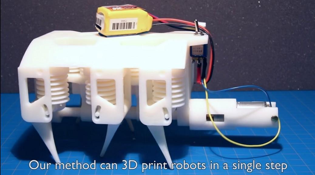 Impresora 3D produce robot hidráulico listo para trabajar
