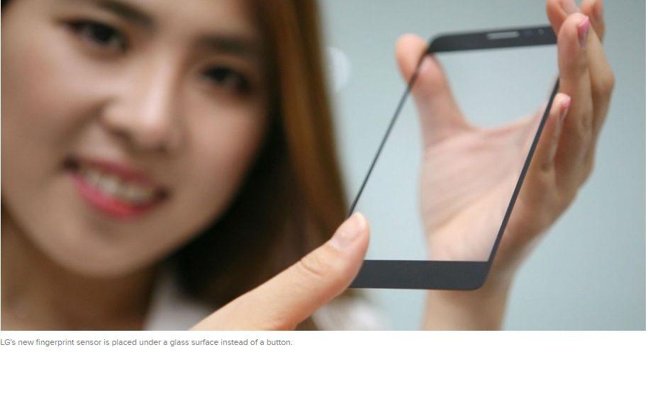 Nuevo sensor de huellas digitales de LG no necesita de un botón