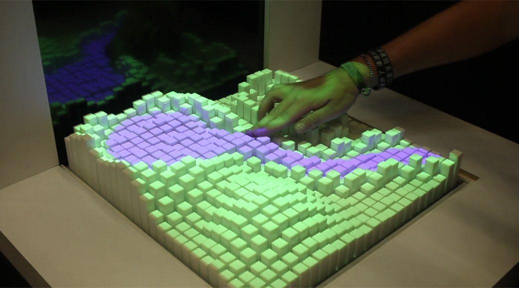 Interfaz de forma cambiante para tocar simulaciones por computador