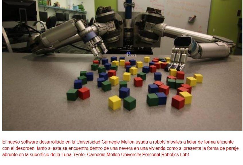 Robots lidiando con el desorden