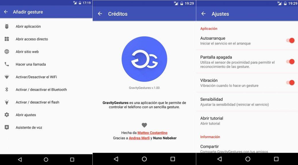 Controle su teléfono con gestos de su mano, gratis para Android