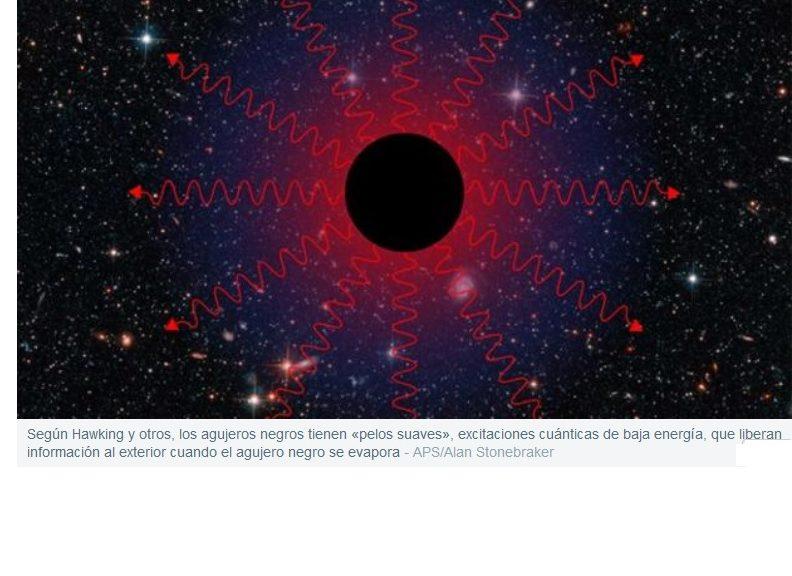 Stephen Hawking amplía la teoría de la «cabellera cuántica» de los agujeros negros