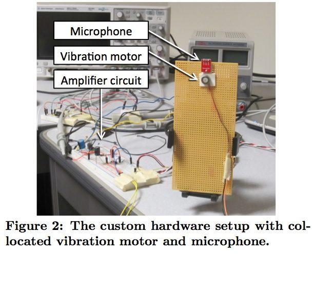 Investigadores hackean el motor de vibración de un teléfono para que sirva como micrófono