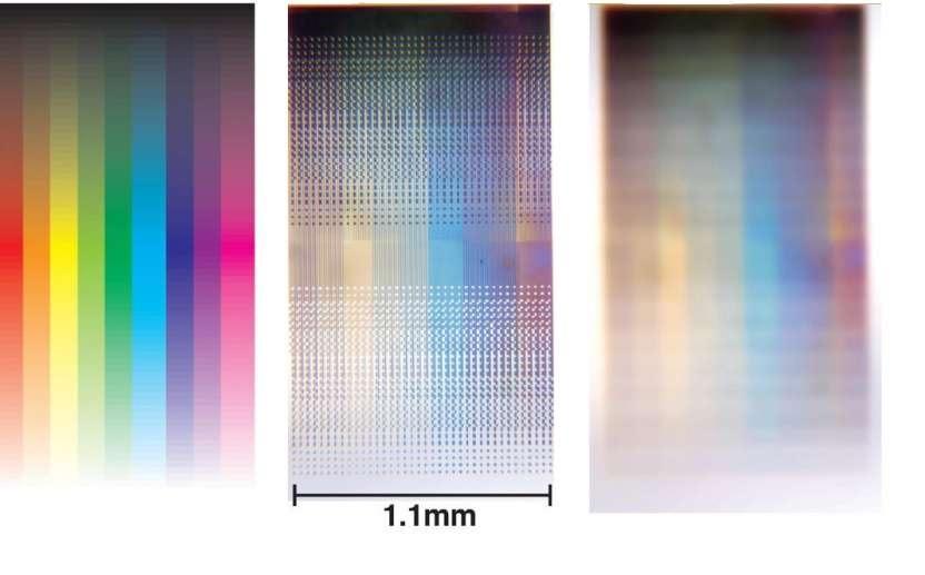 Diminutos pixeles metálicos para hacer que las fotos nunca pierdan su color original