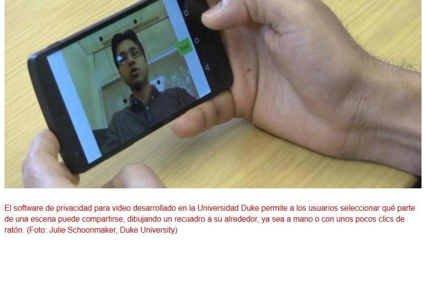 Software para garantizar la privacidad ante cámaras de dispositivos móviles