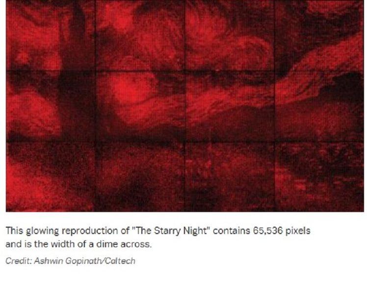 Científicos hacen pintura de Van Gogh usando origami de ADN