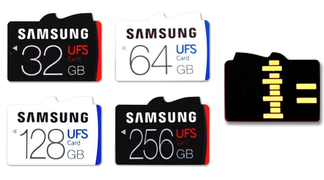 Las tarjetas UFS de Samsung son casi 3 veces más rápidas que las microSD