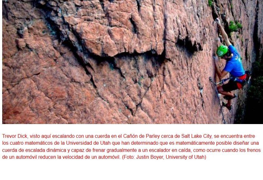 Trabajan en una cuerda de seguridad para alpinismo capaz de acabar con los tirones en las caídas