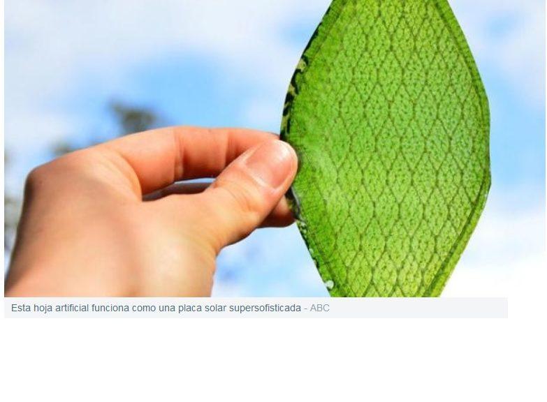Fotosíntesis artificial para fabricar «petróleo» limpio