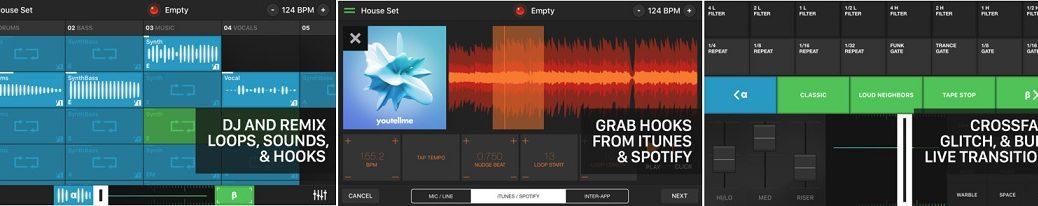Sea DJ y cree música con infinidad de mezclas, gratis para iPhone, iPad, iPod