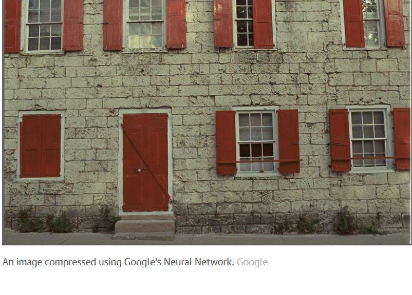 Google usa redes neuronales para hacer los archivos de imágenes más pequeños