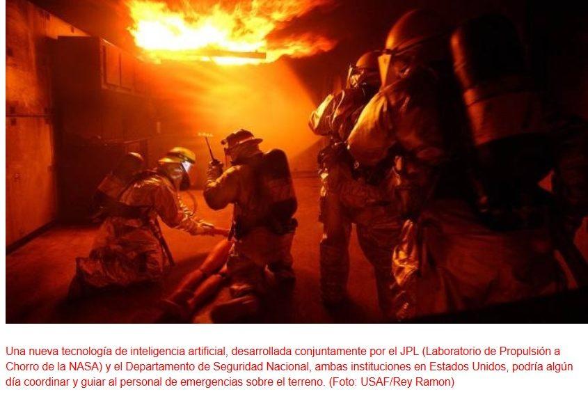 Diseñan inteligencia artificial para ayudar a los bomberos