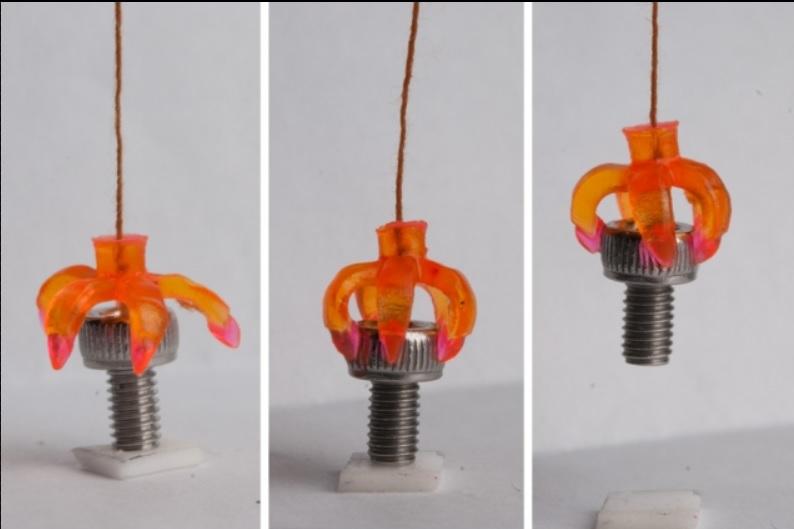 material impreso 3D que cambia de forma