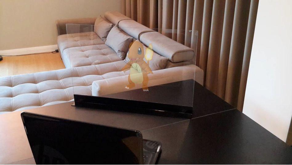 Nueva pantalla para el hogar utiliza su teléfono para hacer hologramas